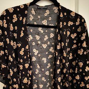 Brandy Melville black floral top